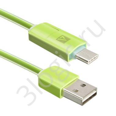 USB кабель ACD-Multi USB-C / MicroUSB ~ USB-A 2в1, TPE, 1м, зеленый (ACD-U914-CMG)