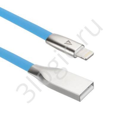 USB кабель ACD-Infinity Lightning ~ USB-A TPE, 1.2м, синий (ACD-U922-P5L)