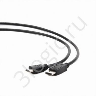Кабель DisplayPort HDMI Cablexpert CC-DP-HDMI-6, 20M/19M, 1.8м, черный, экран, пакет