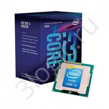 Процессор Core i3-9100 4 Cores, 4 Threads, 3.6/4.2GHz, 6M, DDR4-2400, ECC, Graphics, 65W, BOX