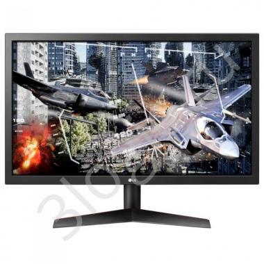 "Монитор 23,6"" LG 24GL600F-B Black (TN, 1920x1080, HDMI+DP, 1 ms, 170°/160°, 300 cd/m, 1000:1)"