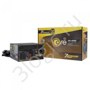 Блок питания CORE GC-500 Gold SSR-500LC APFC 0.99; не модульный МВ(20+4), 1xCPU(4+4),2xPCI-E(6+2),4xSATA,3xMolex;Fan 120мм, S2FC ;КПД>87%;100-240В,50-60Гц;Защиты OPP/OVP/UVP/ OCP/OTP/SCP;EnergyStar,RoHS; MTBF>100000ч, RTL {5}