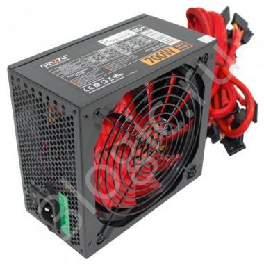 Блок питания БП Ginzzu PC700 14CM(Red) 80+ black,APFC,24+4p,2 PCI-E(6+2), 7*SATA, 4*IDE,оплетка, кабель питания,цветная коробка RTL {10}