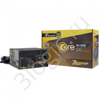 Блок питания CORE GC-500 Gold SSR-500LC APFC 0.99; не модульный МВ(20+4), 1xCPU(4+4),2xPCI-E(6+2),4xSATA,3xMolex;Fan 120мм, S2FC ;КПД>87%;100-240В,50-60Гц;Защиты OPP/OVP/UVP/ OCP/OTP/SCP;EnergyStar,RoHS; MTBF>100000ч, OEM {5}