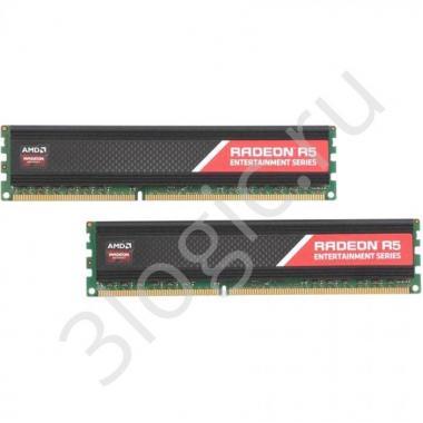 Модуль памяти 16GB AMD Radeon™ DDR3 1600 DIMM R5 Entertainment Series Black R5316G1609U2K Non-ECC, CL9, Heat Shield, Kit (2x8GB), RTL