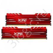 Модуль памяти 16GB ADATA DDR4 2666 DIMM GAMMIX D10 Red Gaming Memory AX4U266638G16-DRG Non-ECC, CL16, 1.2V, 1024x8, Kit (2x8GB), RTL (462503)