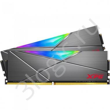Модуль памяти 16GB ADATA DDR4 3200 DIMM XPG SPECTRIX D50 RGB Grey Gaming Memory AX4U320038G16A-DT50 Non-ECC, CL16, 1.35V, 1024x8, Kit (2x8GB), RTL  (778129)