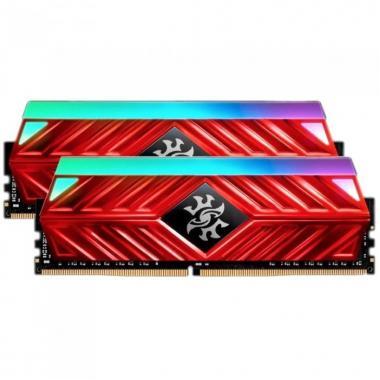 Модуль памяти 16GB ADATA DDR4 3600 DIMM XPG SPECTRIX D41 RGB Red Gaming Memory AX4U360038G18A-DR41 Non-ECC, CL18, 1.35V, 1024x8, Kit (2x8GB), RTL (774411)