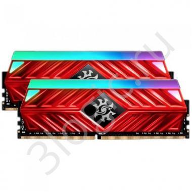 Модуль памяти 16GB ADATA DDR4 3200 DIMM XPG SPECTRIX D41 RGB Red Gaming Memory AX4U320038G16A-DR41 Non-ECC, CL16, 1.35V, 1024x8, Kit (2x8GB), RTL  (775258)
