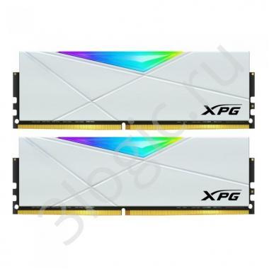 Модуль памяти 16GB ADATA DDR4 4133 DIMM XPG SPECTRIX D50 RGB White Gaming Memory AX4U413338G19J-DW50 Non-ECC, CL19, 1.4V, 1024x8, Kit (2x8GB), RTL (779416)