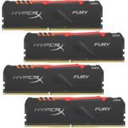 Модуль памяти 128GB Kingston DDR4 2400 DIMM HyperX Fury Gaming HX424C15FB3K4/128 Non-ECC, CL15, 1.2V, KIT 4*32Gb, RTL, (302752)