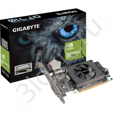 Видеокарта GV-N710D3-2GL GT 710 2GB DDR3 64 bit DVI HDMI D-SUB RTL {30}