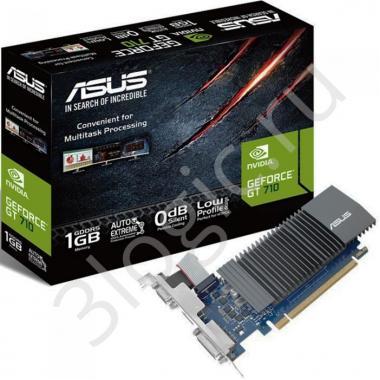 Видеокарта GT710-SL-1GD5-BRK GT 710 1GB GDDR5 32bit DVI HDMI D-SUB RTL {20}
