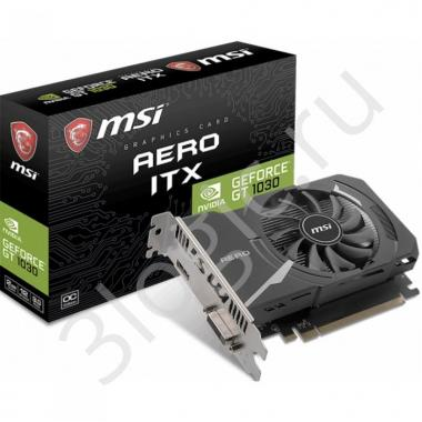 Видеокарта GT 1030 AERO ITX 2GD4 OC 2GB GDDR5 64bit DVI HDMI RTL {20}
