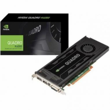 Видеокарта Bad Pack NVIDIA Quadro K4000 (VCQK4000-PB) 3072MB, DDR5, 256bit, PCI-Ex16, 89.6 GB/sec, потребление энергии(max)-142W, 1xDual-Link DVI/2xDP+ Stereo (extra bracket), RTL