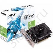 Видеокарта GT 730 4GB DDR3 128bit DVI HDMI RTL {20}