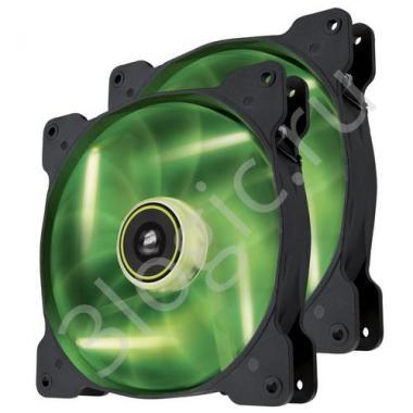 Вентилятор Air Series SP140 LED Green High Static Pressure 140mm Fan Twin Pack   [CO-9050037-WW] RTL{10}
