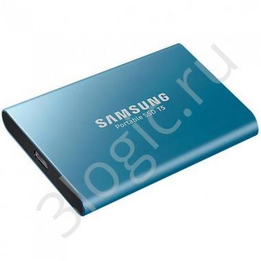 "Жесткий диск 1.8"" 500GB Samsung T5 External SSD MU-PA500B/WW USB 3.1 Gen 2 Type-C, Up to 540MB/s, Blue, Retail (882888) RTL {5}"
