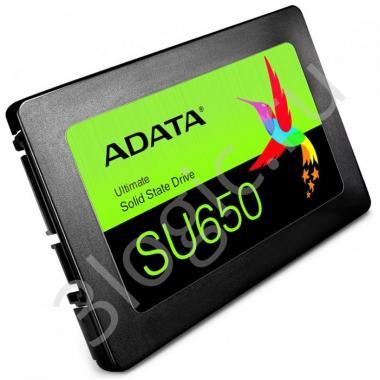 "Жесткий диск 2.5"" 120GB ADATA SU650 Client SSD [ASU650SS-120GT-R] SATA 6Gb/s, 520/320, IOPS 20/75K, MTBF 2M, 3D TLC, DRAM less, 70TBW, RTL {100} (461155)"
