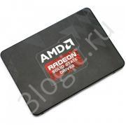 "Жесткий диск 2.5"" 480GB AMD Radeon R5 Client SSD R5SL480G SATA 6Gb/s, 565/527, IOPS 84/66K, MTBF 2M, 3D TLC, 240TBW, RTL  (181241)"