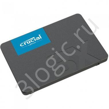 "Жесткий диск 2.5"" 120GB Crucial BX500 Client SSD CT120BX500SSD1 SATA 6Gb/s, 540/500, MTBF 1.5M, 3D TLC, 40TBW, 0.31DWPD, RTL (787316)"