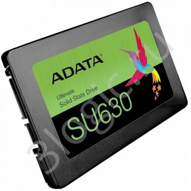 """Жесткий диск 2.5"""" 1.92TB ADATA SU630SS Client SSD [ASU630SS-1T92Q-R] SATA 6Gb/s, 520/450, IOPS 40/65K, MTBF 1.5M, 3D QLC, 400TBW, RTL (773551)"""