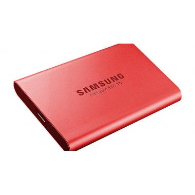 """Жесткий диск 1.8"""" 500GB Samsung T5 External SSD MU-PA500R/WW USB 3.1 Gen 2 Type-C, Up to 540MB/s, Red, RTL {5} (919382)"""