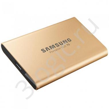 "Жесткий диск 1.8"" 1TB Samsung T5 External SSD MU-PA1T0G/WW USB 3.1 Gen 2 Type-C, Up to 540MB/s, Rose Gold, RTL {5} (919429)"