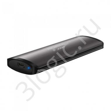 "Жесткий диск 1.8"" 256GB ADATA SE760 Titan-Gray External SSD [ASE760-256GU32G2-CTI] USB 3.2 Gen 2 Type-C, 1000R, USB 3.2 Type-C to C cable,USB 3.2 Type-C to A cable, Quick Start Guide, RTL  (772691)"
