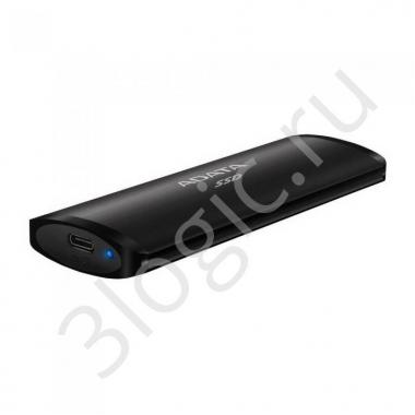 """Жесткий диск 1.8"""" 512GB ADATA SE760 Black External SSD [ASE760-512GU32G2-CBK] USB 3.2 Gen 2 Type-C, 1000R, USB 3.2 Type-C to C cable,USB 3.2 Type-C to A cable, Quick Start Guide, RTL (772721)"""