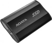 "Жесткий диск 1.8"" 512GB ADATA SE800 Black External SSD [ASE800-512GU32G2-CBK] USB 3.2 Gen 2 Type-C, 1000R, USB 3.2 Type-C to C cable,USB 3.2 Type-C to A cable, Quick Start Guide, Tough-IP68 dustproof and waterproof, Military-Grade shockproof, RTL  (7"