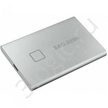 "Жесткий диск 1.8"" 500GB Samsung T7 Touсh Silver External SSD MU-PC500S/WW USB 3.2 Gen 2 Type-C, 1050/1000 RTL {5} (195242)"