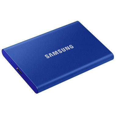 "Жесткий диск 1.8"" 2TB Samsung T7 Blue External SSD MU-PC2T0H/WW USB 3.2 Gen 2 Type-C, 1050/1000 RTL, (312403)"