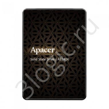 "Жесткий диск 2.5"" 120GB Apacer AS340X Client SSD AP120GAS340XC-1 SATA 6Gb/s, 550/500, IOPS 38/75K, MTBF 1.5M, 3D TLC, 70TBW, 0,53DWPD, RTL"