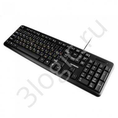 Клавиатура Гарнизон GK-100, USB, черный