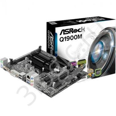 Материнская плата с ЦПУ Q1900M, Intel® Quad-Core Processor J1900 (2 GHz), Micro ATX, 2xDDR3/DDR3L-1333, Max 16GB, 1xPCI-Ex16, 1xPCI-Ex1 2xSATA2, Giga Lan, 6CH, VGA/DVI/HDMI, 3xUSB2.0, 1xUSB3.0 RTL {20}