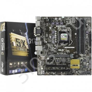 Материнская плата Q170M-C,  LGA1151,Q170,DDR4,USB3.0,SATA 6G,MB, RTL {10}
