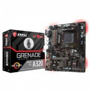 Материнская плата A320M GRENADE, Socket AM4, AMD® A320, 2xDDR4-1866, 1xPCI-Ex16x, 2xPCI-Ex, D-SUB+DVI-D+HDMI, 4xSATA3(RAID 0/1/10), 1xM.2, 8 Ch Audio, GLan, (2+4)xUSB2.0, (4+2)xUSB3.1, 1xPS/2, mATX, RTL {10}