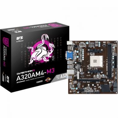 Материнская плата A320AM4-M3, Socket AM4, AMD A320, 2xDDR4-2667, D-SUB+DVI-D+HDMI, 1xPCI-Ex16, 1xPCI-Ex1, 4xSATA3, 1xM.2, 6 Ch Audio, GLan, (2+4)xUSB2.0, (4+2)xUSB3.0, 2xPS/2, mATX, RTL {}