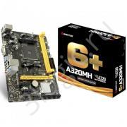 Материнская плата A320MH, Socket AM4, AMD A320, 2xDDR4-2667, D-SUB+HDMI, 1xPCI-Ex16, 2xPCI-Ex1, 4xSATA3(RAID 0/1/10), 8 Ch Audio, GLan, (4+2)xUSB2.0, (2+1)xUSB3.1, 1xPS/2, mATX, RTL, {20}