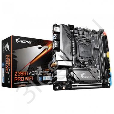 Материнская плата Z390 I AORUS PRO WIFI, Socket 1151, Intel®Z390, 2xDDR4-2666, HDMI+DP, 1xPCI-Ex16, 4xSATA3(RAID 0/1/5/10), 2xM.2, 8 Ch Audio, 2xGLan, Wi-Fi 802.11, (0+2)xUSB2.0, (5+2)xUSB3.1, (1+1)xUSB 3.1 Type-C™, Mini-ITX, RTL {10}