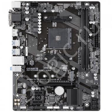 Материнская плата GA-A320M-S2H, Socket AM4, AMD A320, 2xDDR4-2400, D-SUB+DVI-D+HDMI, 1xPCI-Ex16, 2xPCI-Ex1, 4xSATA3(RAID 0/1/10), 1xM.2, 8 Ch Audio, GLan, (2+4)xUSB2.0, (4+2)xUSB3.1, 2xPS/2, mATX, OEM