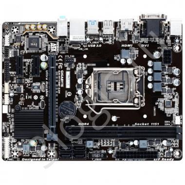 Материнская плата GA-H110M-S2H, Socket 1151, Intel®H110, 2xDDR4-2133, D-SUB+DVI-D+HDMI, 1xPCI-Ex16, 2xPCI-Ex1, 4xSATA3, 8 Ch Audio, GLan, (4+4)xUSB2.0, (2+2)xUSB3.0, 2xPS/2, mATX, OEM
