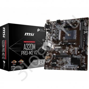 Материнская плата A320M PRO-M2 V2, Socket AM4, AMD® A320, 2xDDR4-1866, 1xPCI-Ex16x, 2xPCI-Ex, D-SUB+DVI-D+HDMI, 4xSATA3(RAID 0/1/10), 1xM.2, 8 Ch Audio, GLan, (2+4)xUSB2.0, (4+2)xUSB3.1, 2xPS/2, mATX, RTL {20}