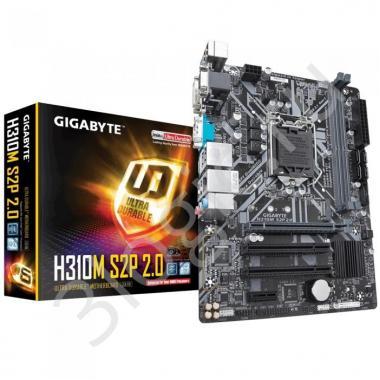 Материнская плата H310M S2P 2.0, Socket 1151, Intel®H310, 2xDDR4-2666, D-SUB+DVI-D+HDMI, 1xPCI-Ex16, 1xPCI-Ex1, 2xPCI, 4xSATA3, 1xM.2, 8 Ch Audio, GLan, (4+2)xUSB2.0, (2+2)xUSB3.1, COM, 1xPS/2, mATX, RTL, {10}