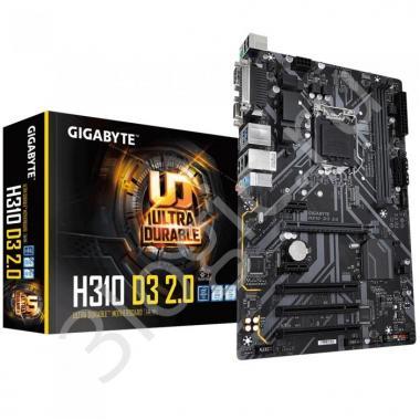 Материнская плата H310 D3 2.0, Socket 1151, Intel®H310, 2xDDR4-2666, D-SUB+HDMI, 1xPCI-Ex16, 2xPCI-Ex1, 3xPCI, 4xSATA3, 1xM.2, 8 Ch Audio, GLan, (4+2)xUSB2.0, (2+2)xUSB3.1, COM, LPT, 1xPS/2, ATX, RTL, {10}