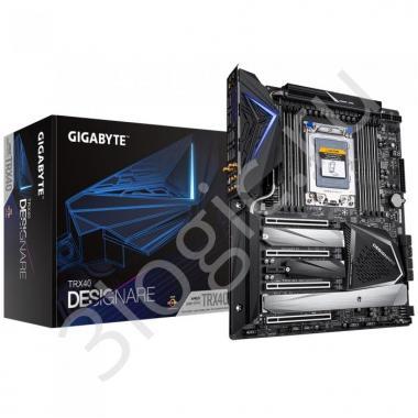 Материнская плата TRX40 DESIGNARE, Socket sTRX4, AMD TRX40, 8xDDR4-3200, 4xPCI-Ex16, 1xPCI-Ex1, 8xSATA3(RAID 0/1/10), 4xM.2, 8 Ch Audio, 2xGLan, Wi-Fi, (2+4)xUSB2.0, (5+4)xUSB3.2, (1+1)xUSB3.1 Type-C™,  ATX, RTL, {2}