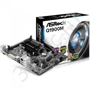 Материнская плата с ЦПУ Q1900M, Intel® Quad-Core Processor J1900 (2 GHz), Micro ATX, 2xDDR3/DDR3L-1333, Max 16GB, 1xPCI-Ex16, 1xPCI-Ex1 2xSATA2, Giga Lan, 6CH, VGA/DVI/HDMI, 3xUSB2.0, 1xUSB3.0 OEM
