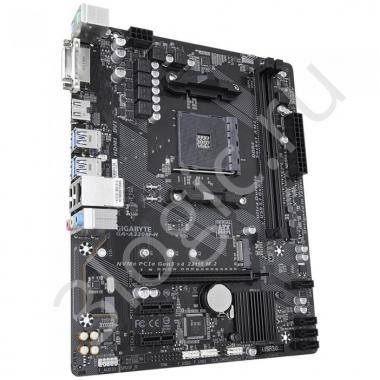 Материнская плата GA-A320M-H, Socket AM4, AMD A320, 2xDDR4-2667, DVI-D+HDMI, 1xPCI-Ex16, 2xPCI-Ex1, 4xSATA3(RAID 0/1/10), 1xM.2, 8 Ch Audio, GLan, (2+4)xUSB2.0, (4+2)xUSB3.1, 2xPS/2, mATX, OEM