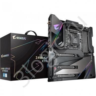 Материнская плата Z490 AORUS XTREME, Socket 1200, Intel®Z490, 4xDDR4-2933, HDMI, 3xPCI-Ex16,  6xSATA3(RAID 0/1/5/10), 3xM.2, 8Ch Audio, 1x2,5GLan, 1x10GLan, Wi-Fi, (2+4)xUSB2.0, (6+2)xUSB3.2, (2+1)xUSB3.2 Type-C™, ATX, RTL, {2}